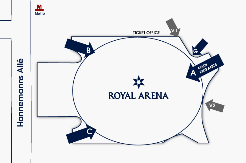 Royal Arena Entrance Map